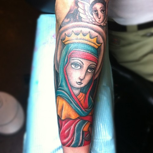 miyabailey:  #ethiopian Virgin Mary… Finished #miyabailey (at Castleberry Hill)
