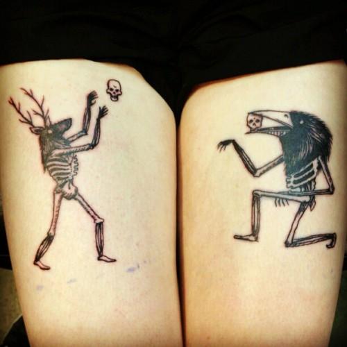 dream on little dreamer • Thighs #tattoos #creepy # ...