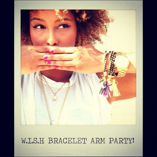 *่ W.I.S.H Bracelet arm party! #wishcreatively #accessories #armcandy #jewelry #colorpop