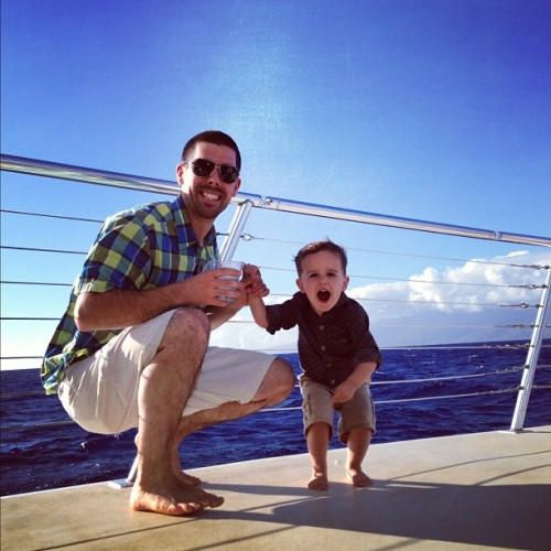 They had a blast on the boat!! #kingston @cameron_martyn #hawaii #maui  (at Ka'anapali Beach)
