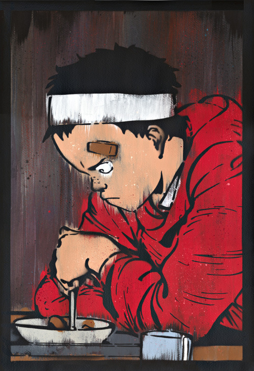 "Heads Up: Michael Latimer's ""Tetsuo"" Art Print  I found this incredible painted art print by way of the always informative Poster District. And all I can say in thanks is, ""Tetsuuuo!"" You may already be aware of this, but in case you're not, I'm a big, huge, massive fan of Otomo's mind-blowing Akira. The film is over 20 years old and, for my money, still looks better, plays better, and packs a bigger punch than any of Hollywood's animated offerings. It doesn't hurt that Akira's a pretty swell manga too. But enough about my obsession with Neo Tokyo, let's go ahead and stare at Michael Latimer's wonderful ""Tetsuo"" art print for a while, shall we?  Read the rest of the review here"