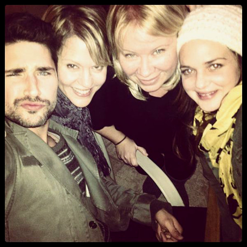 November 10, 2012: Matt enjoyed a mini Kyle XY reunion with the Trager girls — April Matson and Marguerite MacIntyre — and the wonderful Julie Plec! MDW main site . Twitter . Facebook Page . YouTube Channel . Pinterest (Photo: Matt Dallas)