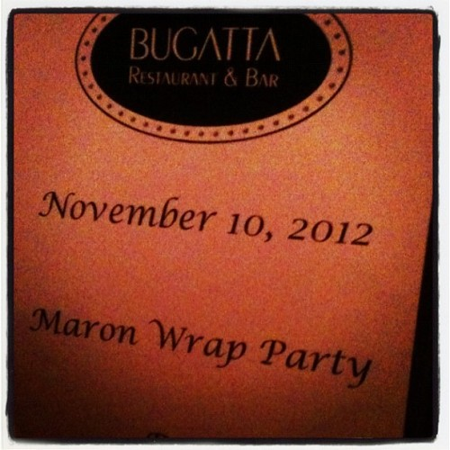 "11/10 - Accidentally ended up at wrap party for my fav comedian @marcmaron show. He told me to tell @rustyrockets he says, ""hi!"". #brandx #wtfpodcast (at Bugatta Bar & Restaurant)"