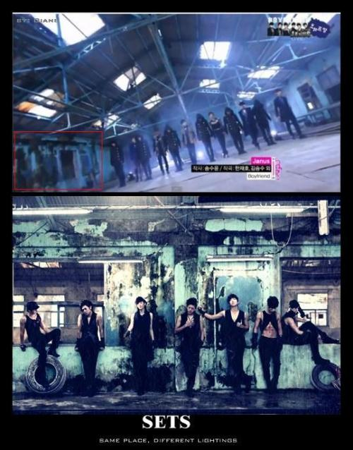 Saw it in BOYFRIEND's comeback 111012 MB performance the background was familiar xDthe performance was mind blowing :D