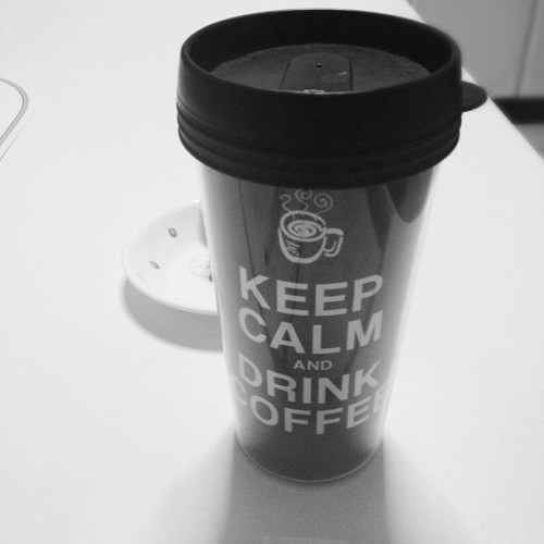 Keep calm and drink coffee. #keepcalm #coffee #tumblr #ohyeah #singapore #pinoy #studyperiod #procrastination
