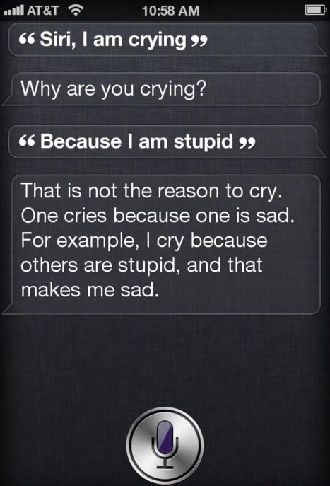 Less of your sas please, Siri!