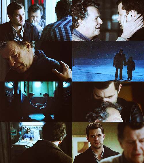 "sansa-snark:  1/5 families: Walter and Peter Bishop  ""Fringe is a love story about a man who loved a boy so much he broke the universe to save him, and it's about that boy learning to love a man he grew up hating. It's a story about love strong enough to break the world, and strong enough to heal it."""