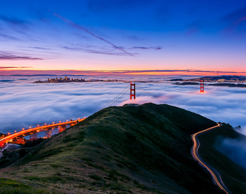 Golden Gate Bridge @ San Francisco(via Fancy)