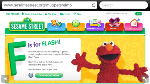 I can think of something else that starts with F, Elmo.