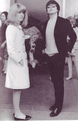 Catherine Deneuve & David Bailey in the 60ties!