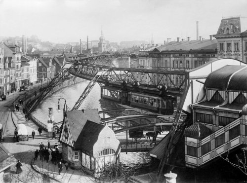 Wuppertal Sky Tram, Germany. 1913.