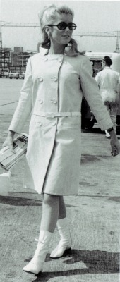 Catherine Deneuve in summer coat in 1965!