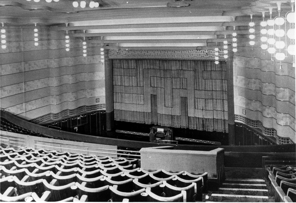 Inside the Gaumont movie theater, Doncaster, England