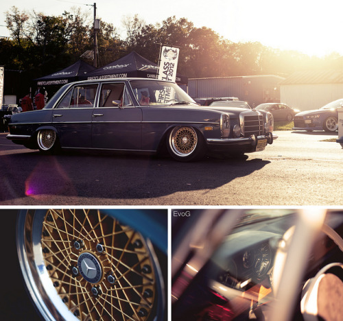 stancedubgirl:  '73 Mercedes 280 by Evano Gucciardo on Flickr.