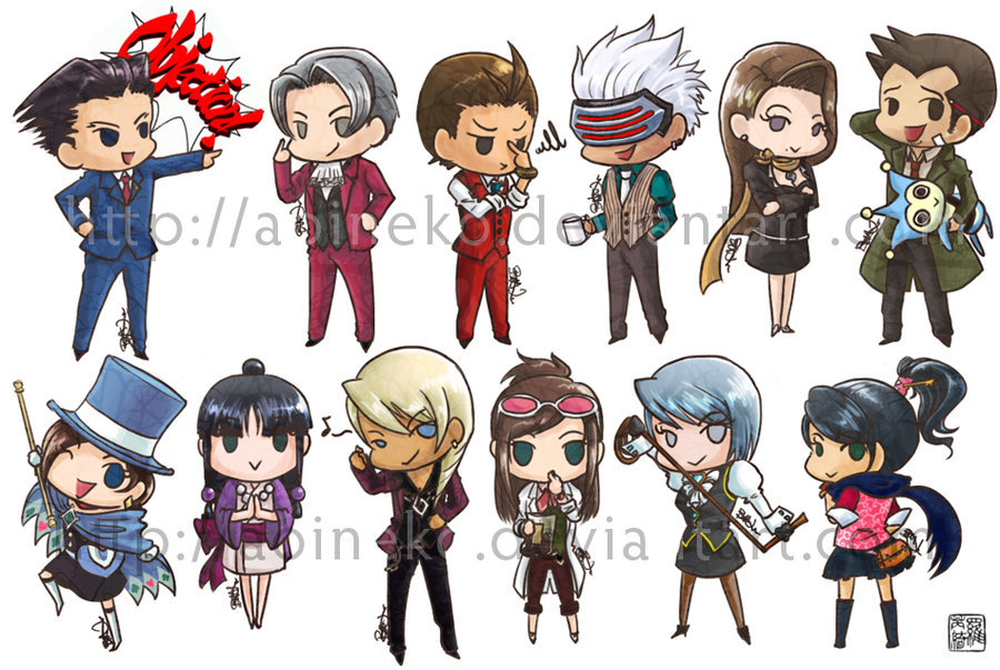 Ace Attorney Stickers by ~aoineko   These reach a level of perfection I cannot even comprehend.