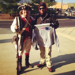 Nikkas is strapped up at the Patriots game 🔫😎