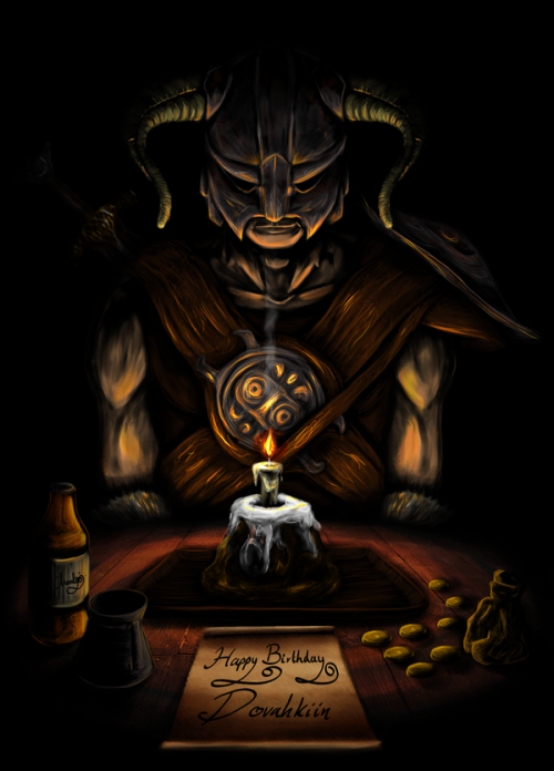 theomeganerd:  Happy Birthday Skyrim - 'Dovahkiin Birthdays' by sorrowfulsnowleopard 11.11.11