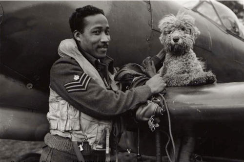R.A.F. Airman and his dog