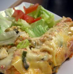 Sour cream turkey enchiladas: perfect for Thanksgiving dinner leftovers