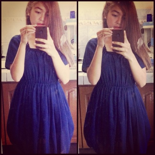 Bought this dress from Ukay for only 60php lol. :) love it. #sundaydress #igdaily #iphonesia #ifollowback #followback #blue