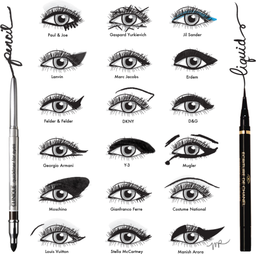Different ways to rock the cat eye look. Illustration by Michelle Ricks