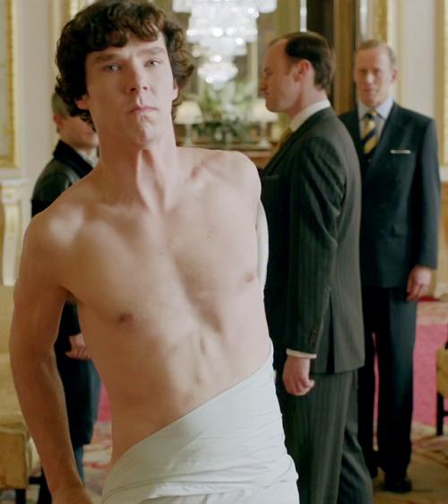 ladyt220:  Sherlock and Mycroft, sporting matching petulant expressions.  Can't not reblog.