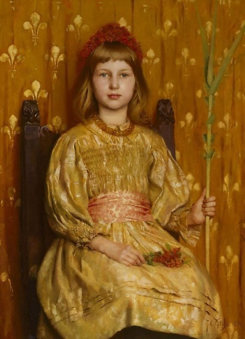 pre-raphaelisme:  My crown and sceptre by Thomas Cooper Gotch