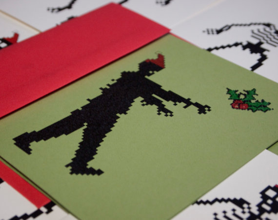 Zombie Santa Holiday Card Set by Blackbird and Peacock https://www.etsy.com/listing/85113750/zombie-santa-holiday-cards-set-of-10-8
