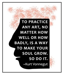 heyoscarwilde:  So do it. Kurt Vonnegut quote illustrated by Pamela Bates :: via etsy.com