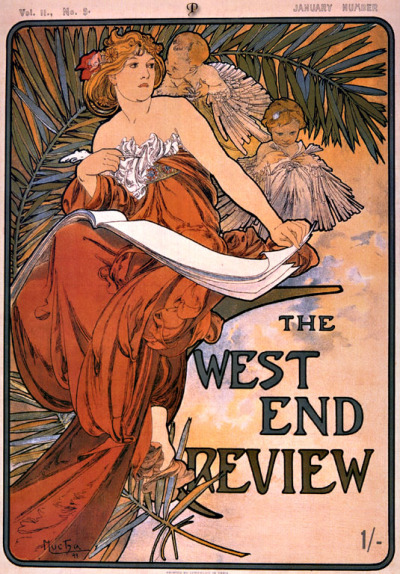 theartgeeks:  The West End Review, 1898 ~ Alphonse Mucha