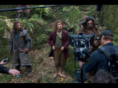 Going Behind the Scenes in Middle-Earth Someone posted a treasure trove of Hobbit set photos. Sit back with a bit of Longbottom Leaf and just try to contain your excitement.