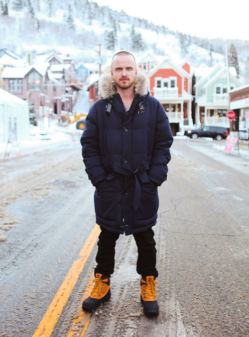 danieldaylewis:  Aaron Paul photographed by William Yan at the 2012 Sundance Film Festival