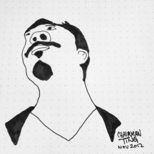 #Selfportrait #chairmanting #illustration #Sharpie #dailydoodle