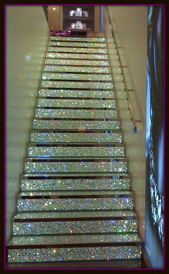 I want glittery stairs now…