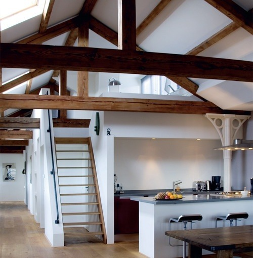 justthedesign:  Exposed Beams/Kitchen