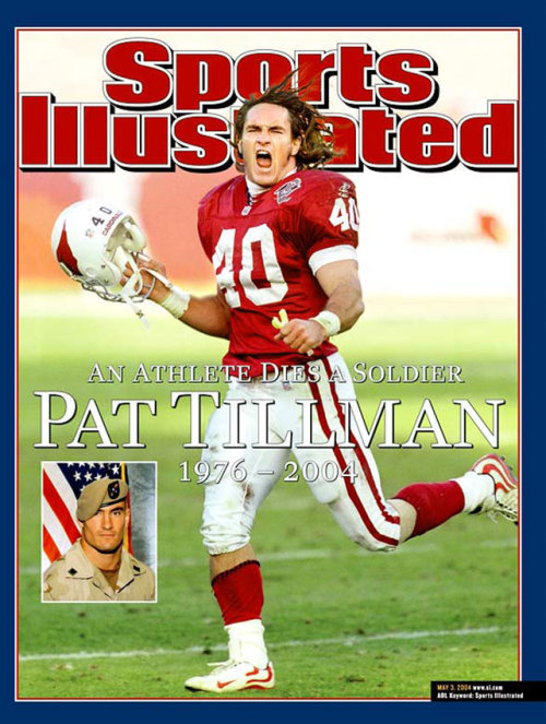 siphotos:  On Veterans Day this May 2004 cover featuring the late Pat Tillman feels appropriate. (Gene Lower/Slingshot) GALLERY: SI's Veterans Day Covers
