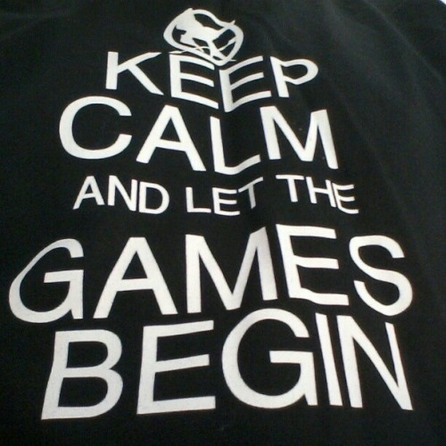 dysenterygary91:  new shirt :-) #new #shirt #keep #calm #and #let #the #games #begin #thehungergames #mockingjay