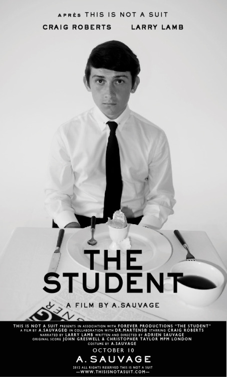 thisisnotasuit:  The Student (2012) A Film By A. Sauvage Starring Craig Roberts in collaboration with Dr Martens.