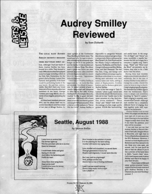 Audrey Smilley, 1991 (Student Review)-original source