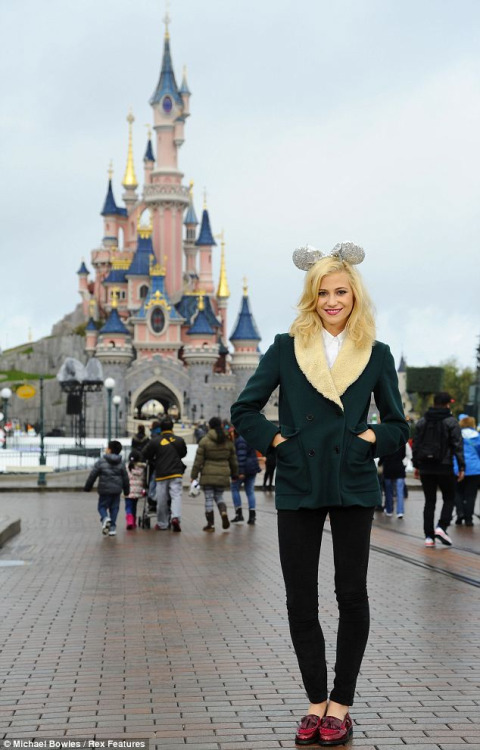 life-in-technic0lour:  Pixie at DisneyLand Paris by the famous pink castle.