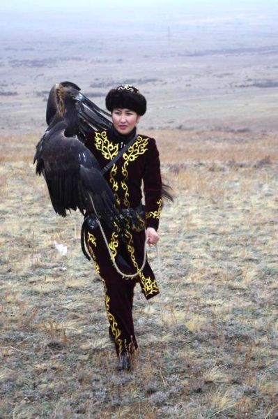 asiansnotstudying: In Central Asia, hunting animals using golden eagles is an ancient, male-dominated sport. But 25-year-old Makpal Abdrazakova is the first woman in Kazakhstan who has taken the tradition to new heights.