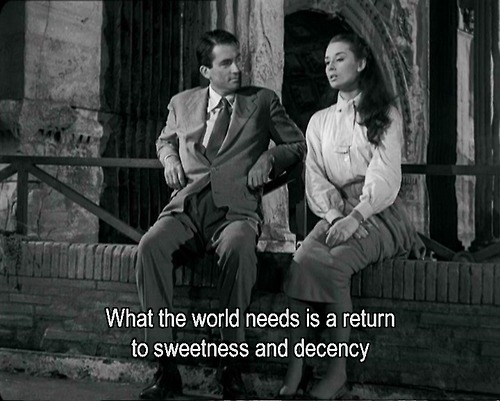 allaboutaudreyandmarilyn:  audrey hepburn and gregory peck  Roman Holiday, 1953.