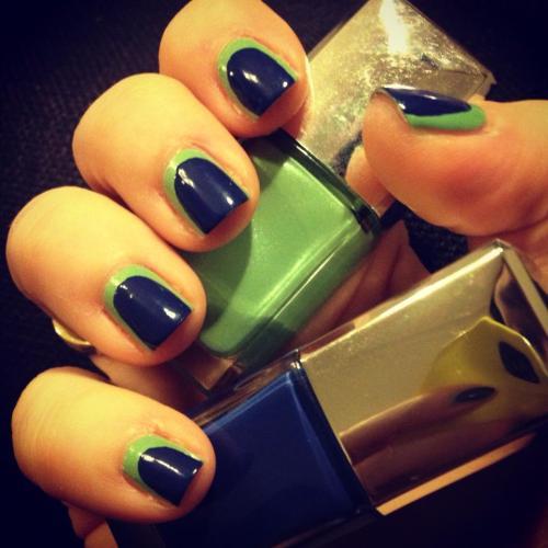 1 coat Dior Waterlily 504 + 1 coat Denim Blue 607