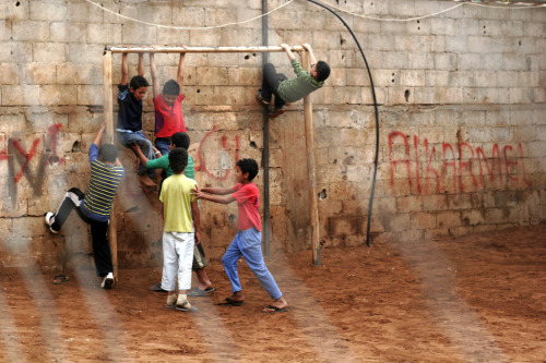 Kids from a Palestinian refugee camp in Lebanon