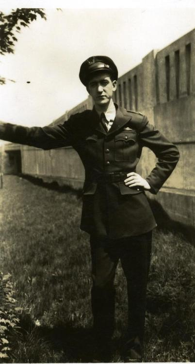 This photo is of my Grandfather, Flight Radio Officer Howard Brady, taken during World War II.