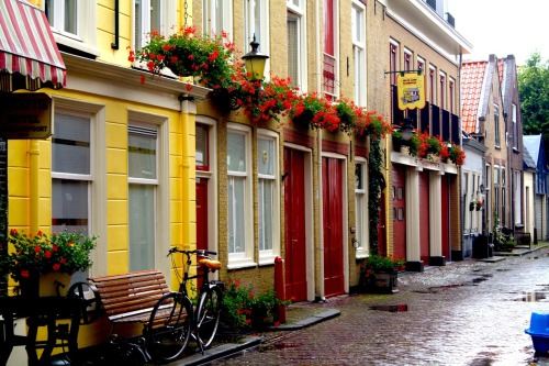 kelcei:  Little street in Delft, Netherlands. (Mad photography skills)  Just handed in my exchange application to Delft. All to do now is wait..