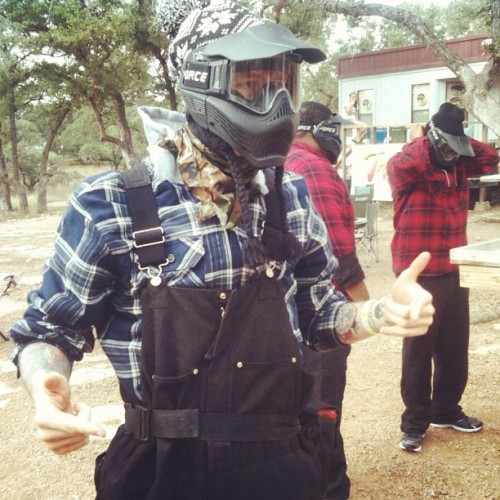 Paintballing in Texas with Machine Gun Kelly today. See the photos from Billboard's exclusive Day in the Life with MGK.