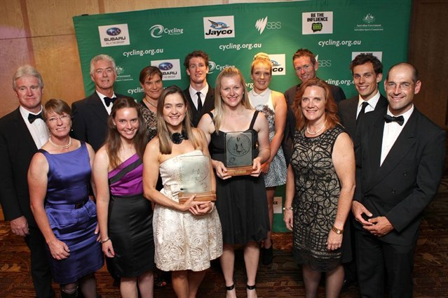 2012 Australian Cyclist of the Year Awards - This is the para-cycling contingent with Michael Gallagher and Steph Morton + Felicity Johnson winners on the night.