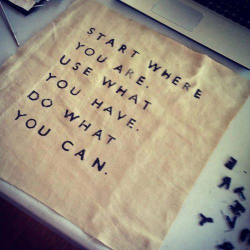 or do what you can't until it becomes easy