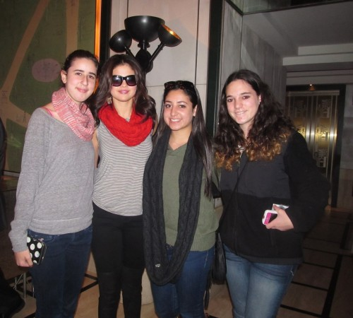 Me and Selena Gomez today!<3